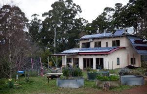 Strawbale mountain house