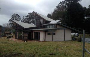 Bindi's strawbale house at 'Moora Moora Co-op'