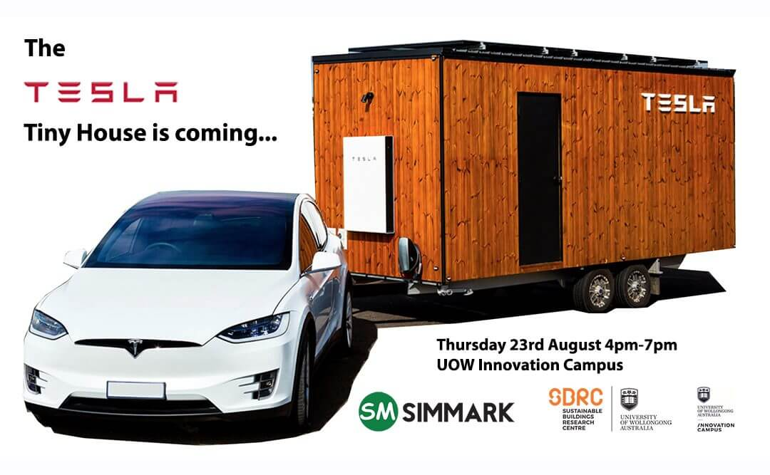 The Tesla Tiny House Is Coming To Wollongong Nsw Sustainable House Day