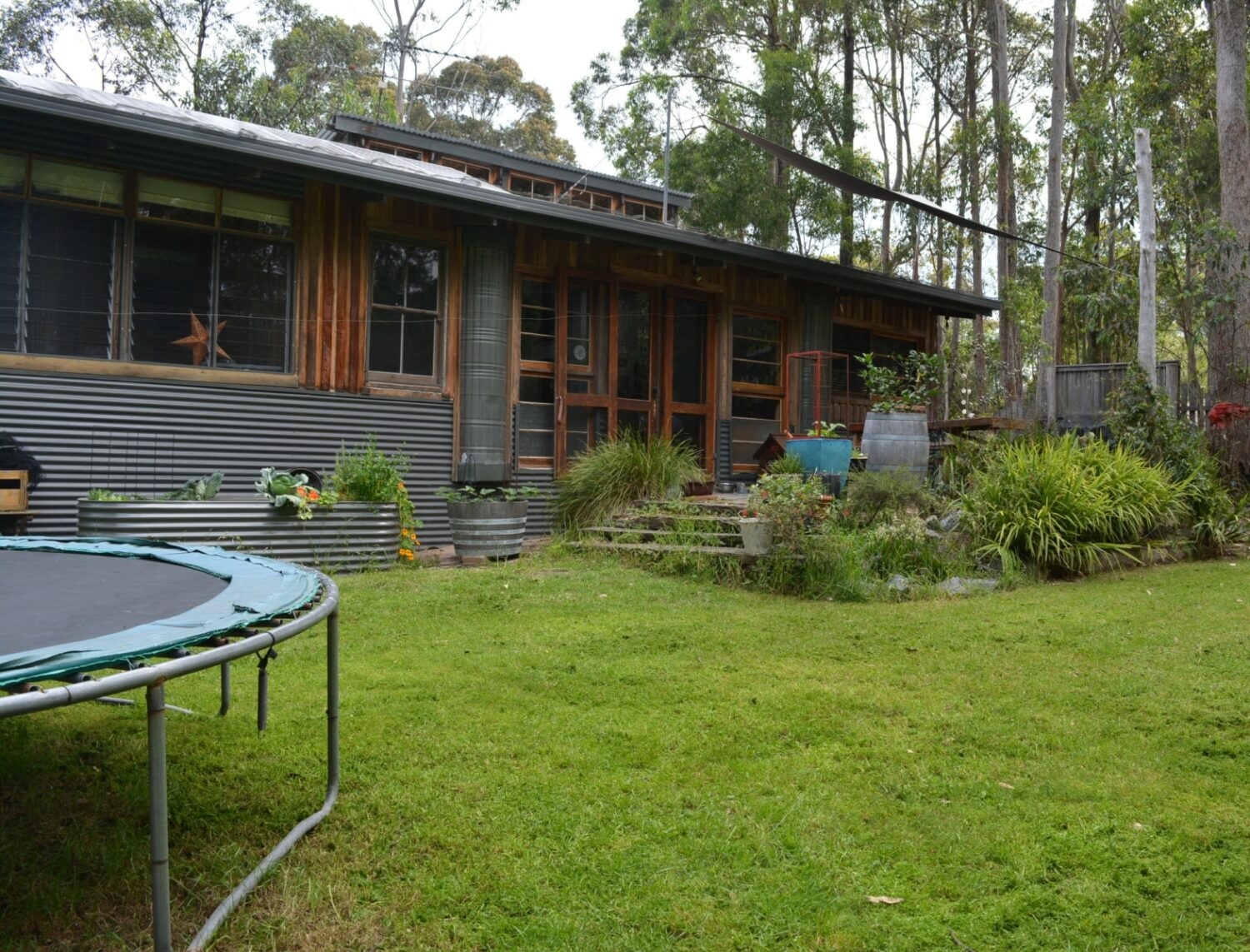 Anchored Timber House